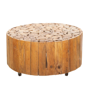Chai Wheels Coffee Table comes in a natural finish with a java style and is available from roomshaped.co.uk