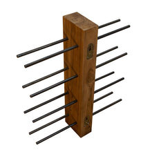 Load image into Gallery viewer, Chai Wine Rack comes in a natural finish with a java style and is available from roomshaped.co.uk