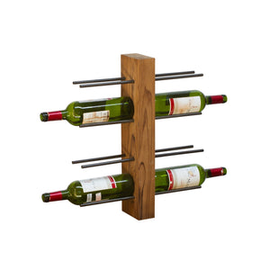 Chai Wine Rack comes in a natural finish with a java style and is available from roomshaped.co.uk