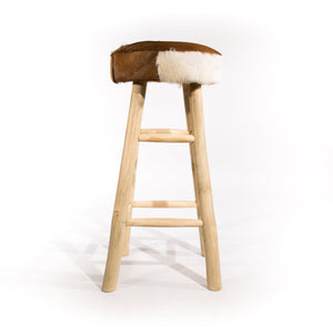 Chau Tall Natural Stool comes in a natural finish with a recycled style and is available from roomshaped.co.uk