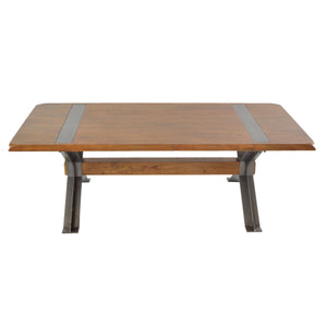 Icha Coffee Table comes in an oak finish with a new industrial style and is available from roomshaped.co.uk