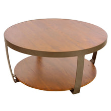 Load image into Gallery viewer, Bayu Small Coffee Table comes in an oak finish with a new industrial style and is available from roomshaped.co.uk