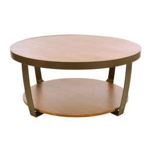 Bayu Small Coffee Table comes in an oak finish with a new industrial style and is available from roomshaped.co.uk