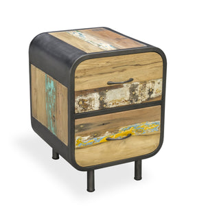 Dea Bedside comes in a multi-colour finish with a recycled style and is available from roomshaped.co.uk