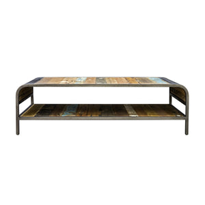 Dea Coffee Table with Shelf comes in a multi-colour finish with a recycled style and is available from roomshaped.co.uk
