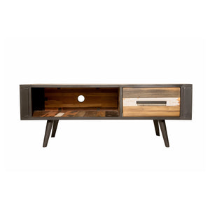 Dea Media Unit 1 Drawer comes in a multi-colour finish with a recycled style and is available from roomshaped.co.uk