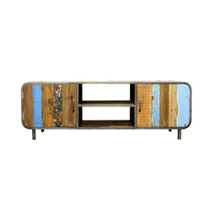 Dea Media Unit comes in a multi-colour finish with a recycled style and is available from roomshaped.co.uk