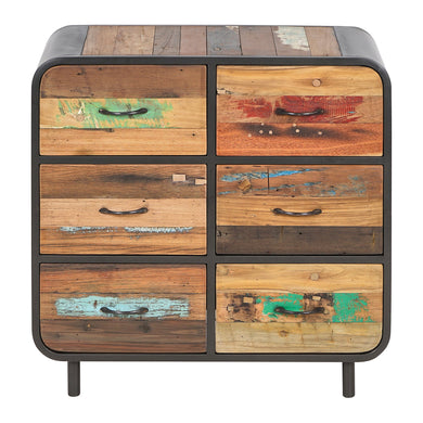 Dea Sideboard comes in a multi-colour finish with a recycled style and is available from roomshaped.co.uk