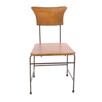 Rika Dining Chair comes in brown with a new industrial style and is available from roomshaped.co.uk
