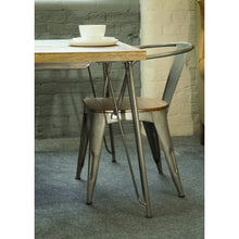 Load image into Gallery viewer, Dinh Dining Table comes in a natural finish with a new industrial style and is available from roomshaped.co.uk