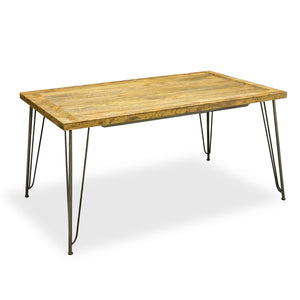 Dinh Dining Table comes in a natural finish with a new industrial style and is available from roomshaped.co.uk
