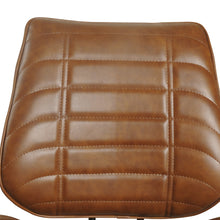 Load image into Gallery viewer, Dini Vegan Leather Chair - Set of 2 comes in brown and chestnut and grey with a new industrial style and is available from roomshaped.co.uk