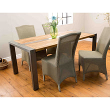 Load image into Gallery viewer, Due Dining Table comes in a natural finish with a retro classic style and is available from roomshaped.co.uk