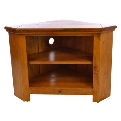Angga Corner TV Unit comes in an oak finish with a java style and is available from roomshaped.co.uk