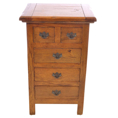 Tika 2 over 3 Chest of Drawers comes in chestnut with a java style and is available from roomshaped.co.uk
