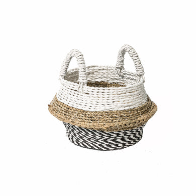 Helena Plant Basket comes in black and white with a java style and is available from roomshaped.co.uk