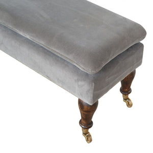 Louis Storage Bench comes in grey with a deco style and is available from roomshaped.co.uk