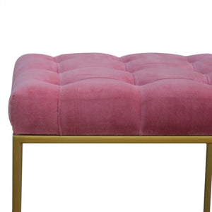 Rafal Footstool comes in pink with a deco style and is available from roomshaped.co.uk
