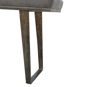 Theo Bench comes in grey with a metallic style and is available from roomshaped.co.uk