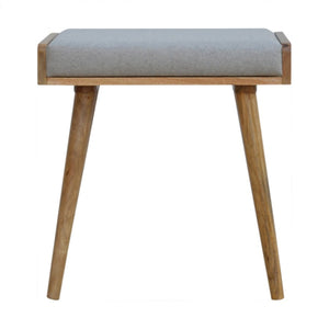 Tekla Footstool comes in grey with a country style and is available from roomshaped.co.uk