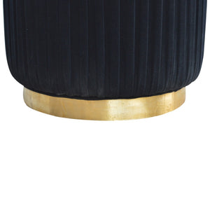 Quentin Stool comes in black and a gold finish with a deco style and is available from roomshaped.co.uk