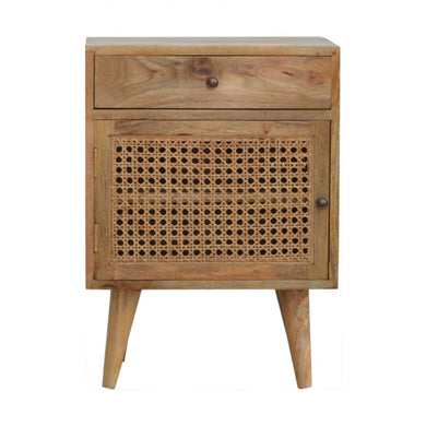 Molly Bedside Cabinet comes in an oak finish with a country style and is available from roomshaped.co.uk