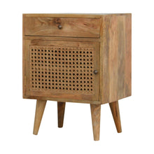 Load image into Gallery viewer, Molly Bedside Cabinet comes in an oak finish with a country style and is available from roomshaped.co.uk