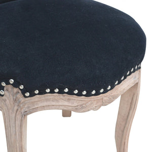 Clement Chair comes in black with a deco style and is available from roomshaped.co.uk