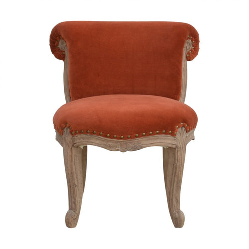 Romain Chair comes in red with a deco style and is available from roomshaped.co.uk