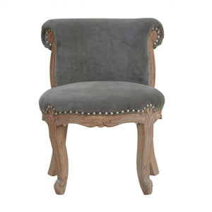 Corentin Chair comes in grey with a french style and is available from roomshaped.co.uk