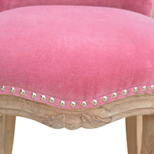 Load image into Gallery viewer, Benoit Chair comes in pink with a deco style and is available from roomshaped.co.uk