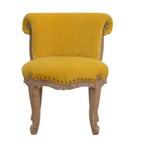 Raphael Chair comes in mustard with a french style and is available from roomshaped.co.uk