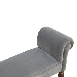 Vincent Bench comes in grey with a french style and is available from roomshaped.co.uk