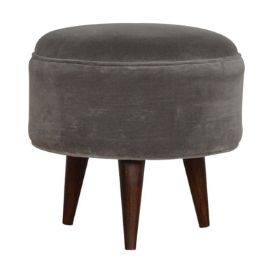 Edward Footstool comes in grey with a french style and is available from roomshaped.co.uk