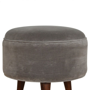 Edward Footstool comes in grey with a deco style and is available from roomshaped.co.uk