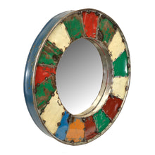 Load image into Gallery viewer, Stefania Mosaic Mirror has a distressed style and is available from roomshaped.co.uk