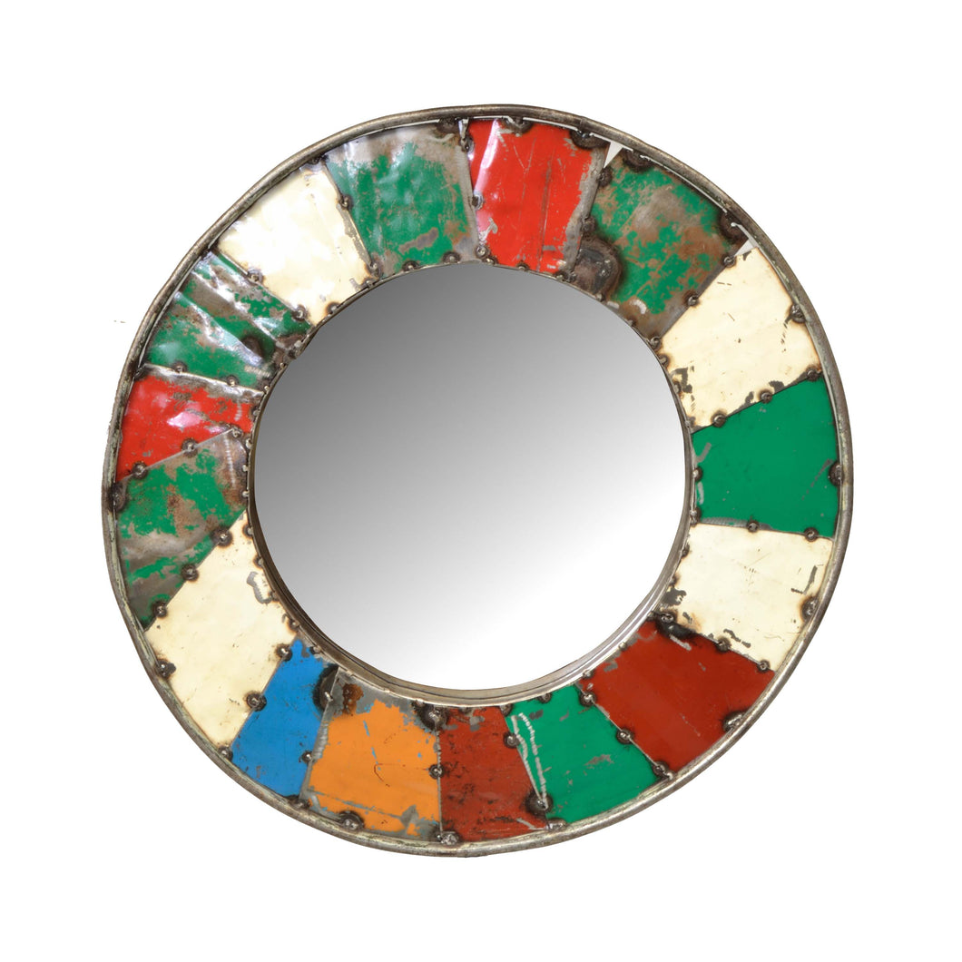 Stefania Mosaic Mirror has a distressed style and is available from roomshaped.co.uk