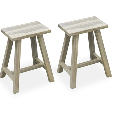 Iqbal Stool - Set of 2 comes in grey with a city style and is available from roomshaped.co.uk