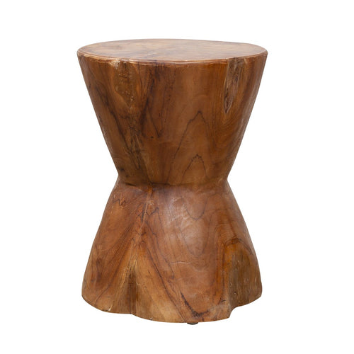 Karnchana Stool comes in grey and a natural finish with a java style and is available from roomshaped.co.uk