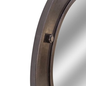 Kasem Mirror comes in brown with a city style and is available from roomshaped.co.uk