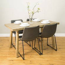 Load image into Gallery viewer, Kazimiera Dining Chair - Set of 2 comes in brown and chestnut and grey with a new industrial style and is available from roomshaped.co.uk