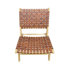 Load image into Gallery viewer, Kittibun Laidback Chair comes in brown and white with a java style and is available from roomshaped.co.uk