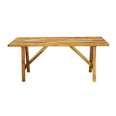 Linh Reclaimed Dining Table comes in a natural finish with a recycled style and is available from roomshaped.co.uk