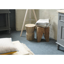 Load image into Gallery viewer, Mayuree Stool comes in grey and a natural finish with a java style and is available from roomshaped.co.uk