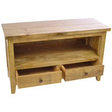 Load image into Gallery viewer, Malgorzata TV Unit comes in an oak finish with a city style and is available from roomshaped.co.uk