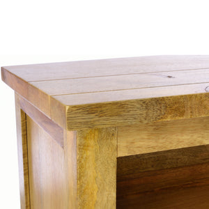 Malgorzata TV Unit comes in an oak finish with a city style and is available from roomshaped.co.uk