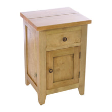 Load image into Gallery viewer, Cindy Bedside Table comes in an oak finish with a city style and is available from roomshaped.co.uk