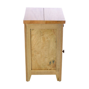 Cindy Bedside Table comes in an oak finish with a city style and is available from roomshaped.co.uk