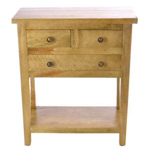 Casimir Console Table comes in an oak finish with a city style and is available from roomshaped.co.uk