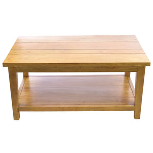 Nurul Coffee Table with Shelf comes in an oak finish with a city style and is available from roomshaped.co.uk